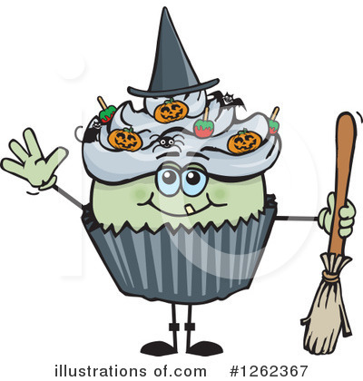Witch Clipart #1262367 by Dennis Holmes Designs