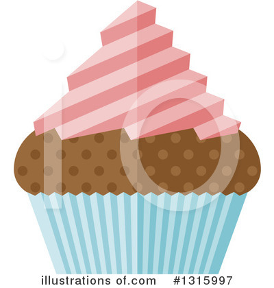 Royalty-Free (RF) Cupcake Clipart Illustration by AtStockIllustration - Stock Sample #1315997