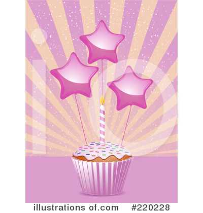 Royalty-Free (RF) Cupcake Clipart Illustration by elaineitalia - Stock Sample #220228