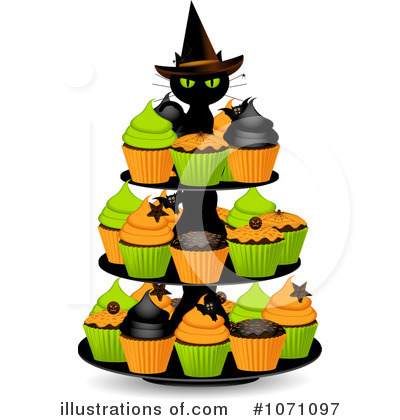 Royalty-Free (RF) Cupcakes Clipart Illustration by Elaine Barker - Stock Sample #1071097