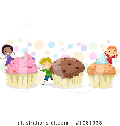 Royalty-Free (RF) Cupcakes Clipart Illustration by BNP Design Studio - Stock Sample #1081033
