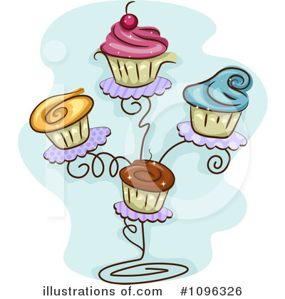Cupcakes Clipart #1096326 by BNP Design Studio