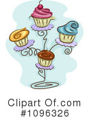 Royalty-Free (RF) Cupcakes Clipart Illustration #1096326