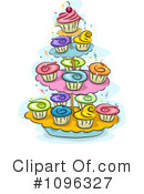 Royalty-Free (RF) Cupcakes Clipart Illustration #1096327