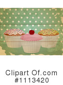 Royalty-Free (RF) Cupcakes Clipart Illustration #1113420