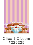 Royalty-Free (RF) Cupcakes Clipart Illustration #220225