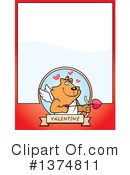 Cupid Cat Clipart #1374811 by Cory Thoman