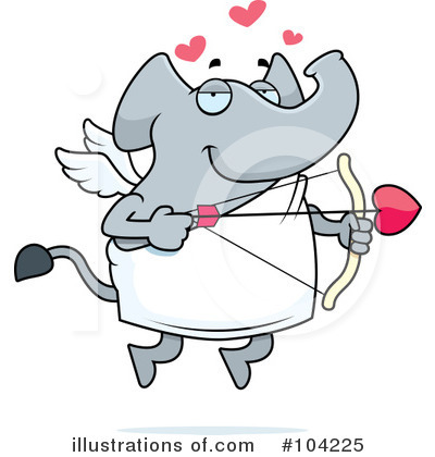 Elephant Clipart #104225 by Cory Thoman