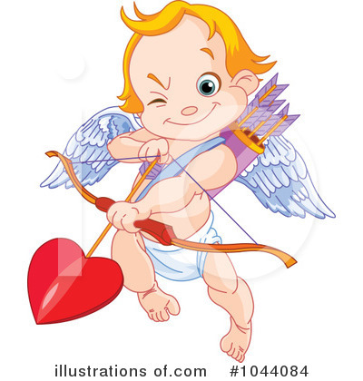 Royalty-Free (RF) Cupid Clipart Illustration by Pushkin - Stock Sample #1044084