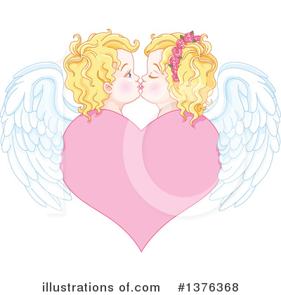 Royalty-Free (RF) Cupid Clipart Illustration by Pushkin - Stock Sample #1376368