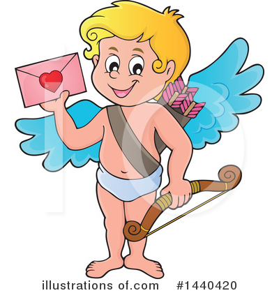 Royalty-Free (RF) Cupid Clipart Illustration by visekart - Stock Sample #1440420