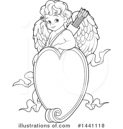 Royalty-Free (RF) Cupid Clipart Illustration by Pushkin - Stock Sample #1441118