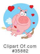 Royalty-Free (RF) Cupid Clipart Illustration #35882