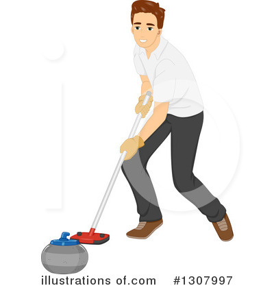 Royalty-Free (RF) Curling Clipart Illustration by BNP Design Studio - Stock Sample #1307997