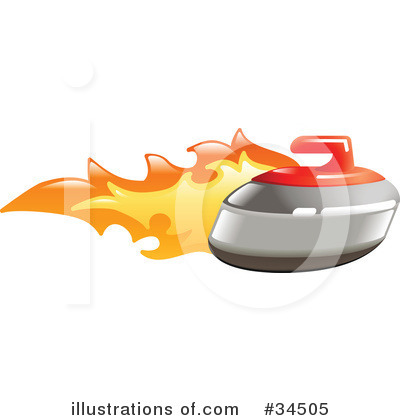 Curling Clipart #34505 by AtStockIllustration