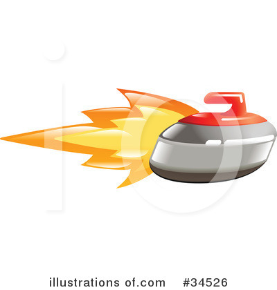 Curling Clipart #34526 by AtStockIllustration