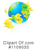 Royalty-Free (RF) currency Clipart Illustration #1109033