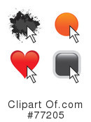 Royalty-Free (RF) cursor Clipart Illustration #77205