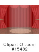 Curtains Clipart #15482 by 3poD
