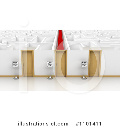 Maze Clipart #1101411 by stockillustrations