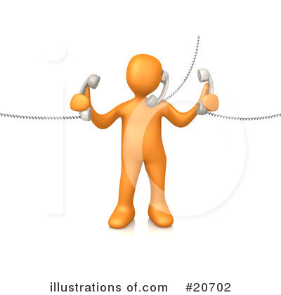 Royalty-Free (RF) Customer Service Clipart Illustration by 3poD - Stock Sample #20702