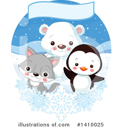 Polar Bear Clipart #1410025 by Pushkin