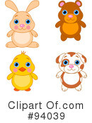 Cute Animals Clipart #94039
