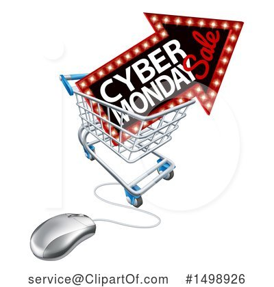 Cyber Monday Clipart #1498926 by AtStockIllustration