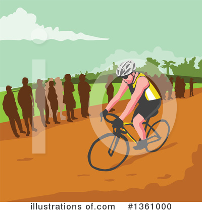 Cyclist Clipart #1361000 by patrimonio