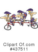 Royalty-Free (RF) cycling Clipart Illustration #437511