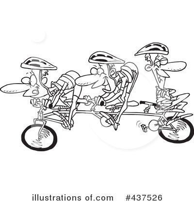 Bicycle Clipart #437526 by toonaday