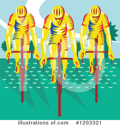 Cyclist Clipart #1203321 by patrimonio