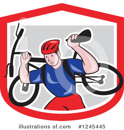 Cyclist Clipart #1245445 by patrimonio