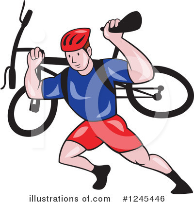 Cyclist Clipart #1245446 by patrimonio