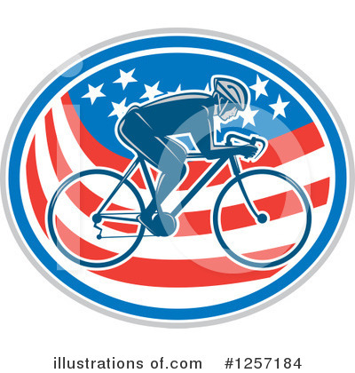 Cyclist Clipart #1257184 by patrimonio