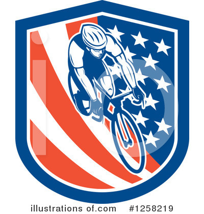 Cyclist Clipart #1258219 by patrimonio