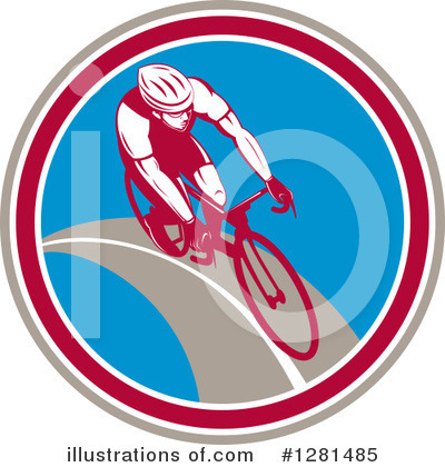 Cyclist Clipart #1281485 by patrimonio