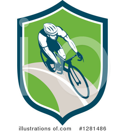 Cyclist Clipart #1281486 by patrimonio