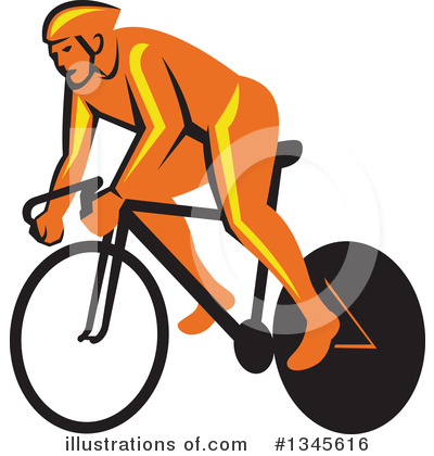 Cyclist Clipart #1345616 by patrimonio