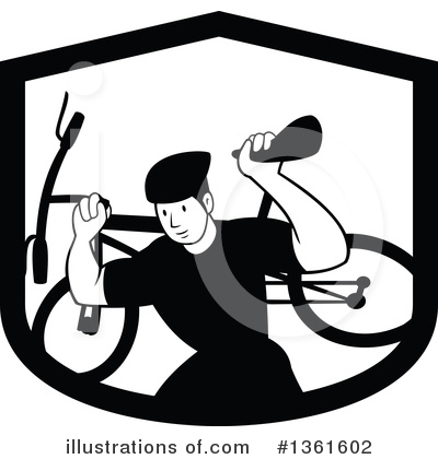 Cyclist Clipart #1361602 by patrimonio