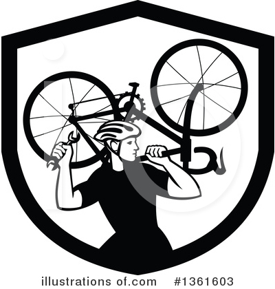 Cyclist Clipart #1361603 by patrimonio