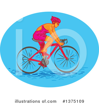 Cyclist Clipart #1375109 by patrimonio