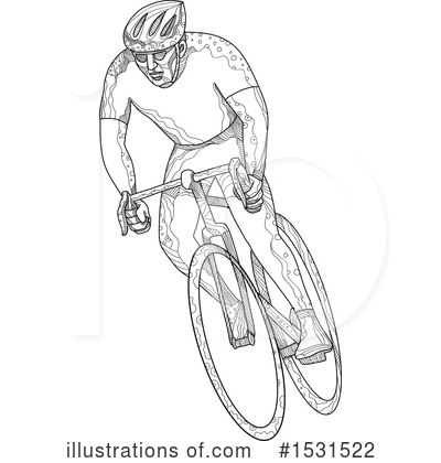 Cyclist Clipart #1531522 by patrimonio