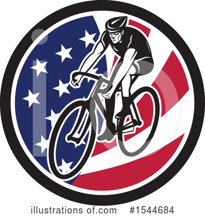 Cyclist Clipart #1544684 by patrimonio