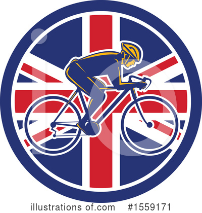 Cyclist Clipart #1559171 by patrimonio