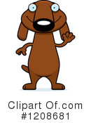 Dachshund Clipart #1208681 by Cory Thoman