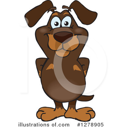 Royalty-Free (RF) Dachshund Clipart Illustration by Dennis Holmes Designs - Stock Sample #1278905