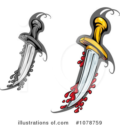 Royalty-Free (RF) Dagger Clipart Illustration by Vector Tradition SM - Stock Sample #1078759