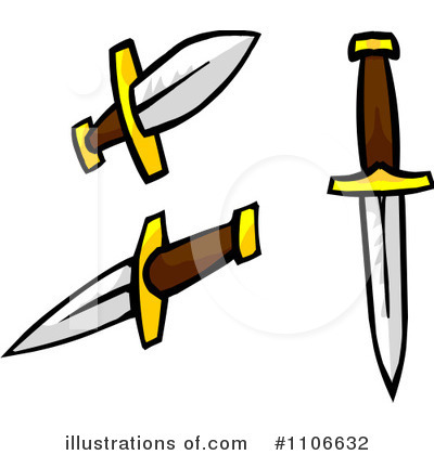Clip Art Dagger Clipart daggers clipart 1106632 illustration by cartoon solutions royalty free rf solutions