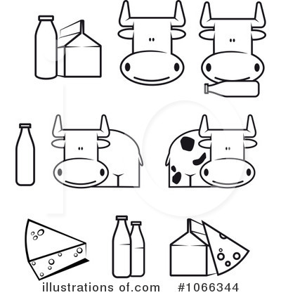 Dairy Clipart #1066344 - Illustration by Vector Tradition SM